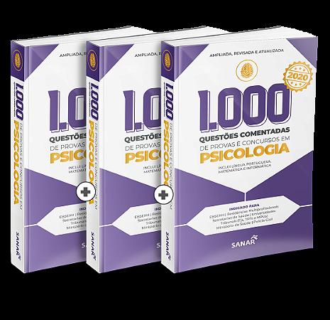 Trio 1.000 Questões Comentadas de Provas e Concursos em Psicologia 2020