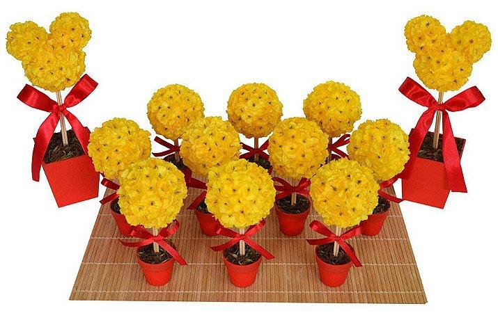 Kit Topiaria Mickey Amarelo e Vermelho