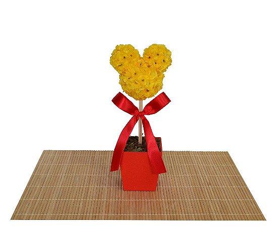 Topiaria Mickey Vermelho e Amarelo