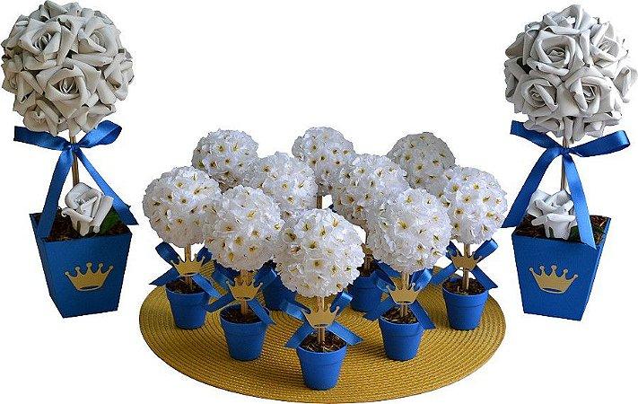 Kit Topiaria Festa Aniversário Príncipe Azul