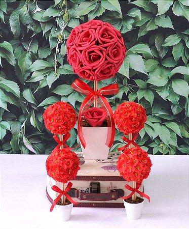 Arranjos de Mesa Para Noivado Casamento ou Festa - Vermelho