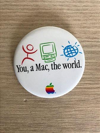 Botton Apple - You, a Mac, the World - Década de 1980