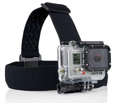 Suporte Elático Ajustável Similar para Cabeça ou Head Strap, Compatível com GoPro, SJCam, Sony e similares.