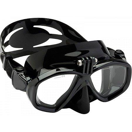 Máscara de Mergulho com Suporte para câmeras Gopro, SJCam e Câmeras de Ação Similares