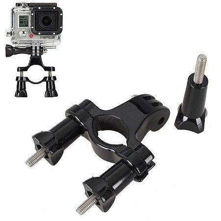 Suporte Em Plástico para Guidão com Parafusos, Compatível Com Câmeras Gopro, SJCam e Similares
