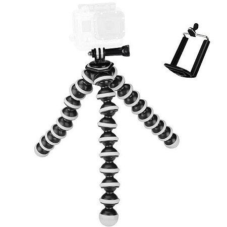 """Tripé Articulado Gorillapod """"P"""" de 16,5cm Compatível com Câmeras Gopro, SJCam e Similares."""