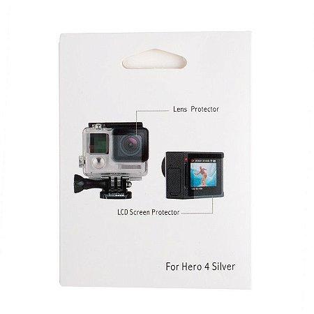 Películas em Filme Para Lente e Tela da Câmera Gopro HERO4 Silver