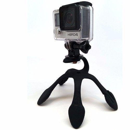 Suporte Tipo Tripé Flexível Gekkopod com Adaptador para Câmeras Gopro, SJCam, Sony e Similares