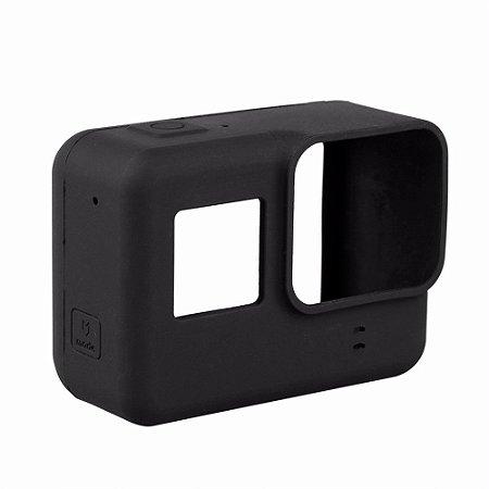Capa Compacta de Proteção em Silicone Para Gopro HERO5 Black, HERO6 Black, HERO7 White, Silver e Black