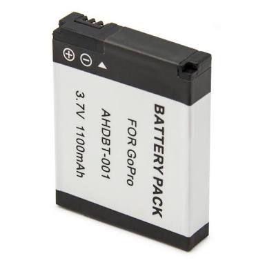 Bateria 1100mAh para Gopro HERO, HERO HD E HERO2 - AHDBT-001/002