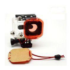 Filtro Vermelho para Caixa de Mergulho das câmeras Gopro HERO3, HERo3+,  HERO4 Silver e HERO4 Black