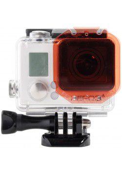 Filtro Vermelho para Caixa Padrão das Câmeras Gopro HERO3, HERO3+, HERO4 Silver e HERO4 Black