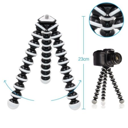 """Tripé Articulado Gorillapod """"G"""" de 23cm Compatível com Câmeras Fotográficas, Gopro, SJCam e Similares."""