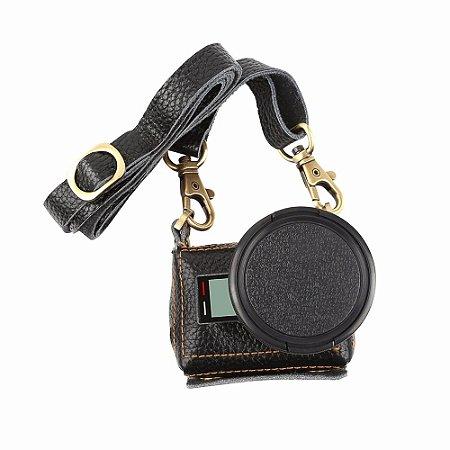 Bolsa em Couro com Filtro UV 52mm para Gopro HERO Black, HERO6 Black e GoPro HERO7 Black