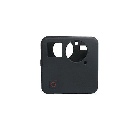 Capa em Silicone na cor preta para câmeras GoPro Fusion