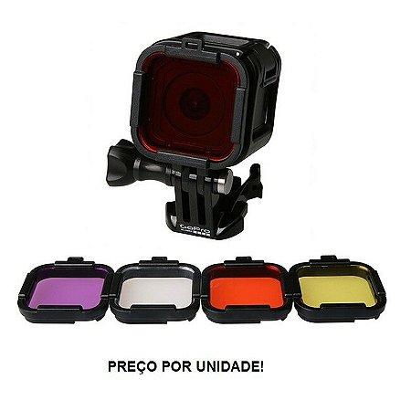 Filtro para Mergulho compatível com câmeras Gopro HERO4 Session HERO5 Session - UNIDADE
