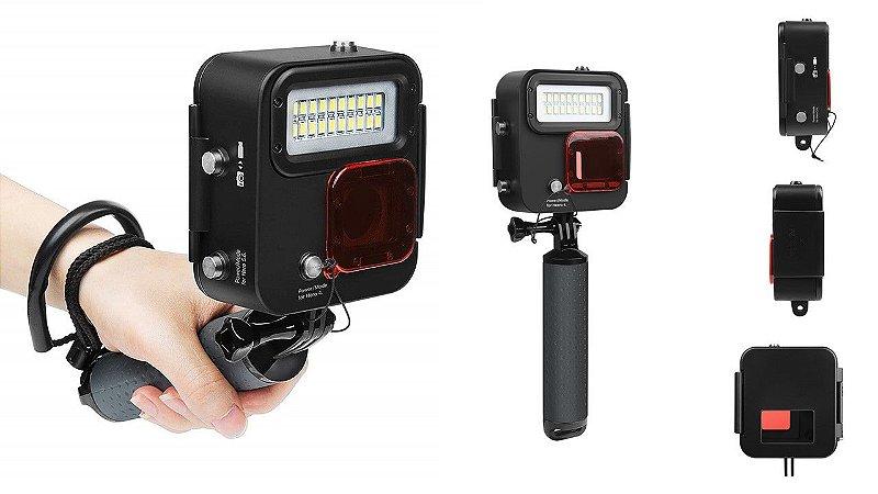Iluminador Led SHOOT XT GP435 KANGAROO para GoPro HERO3, HERO4, HERO5, HERO 6 e HERO7