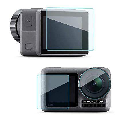 Kit com 3 Películas em Vidro Temperado para Câmeras DJi Action Cam