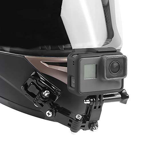 Suporte Articulado Frontal para Capacetes Compatível com Câmeras GoPro, DJi OSMO, SJCam, Sony e similares.