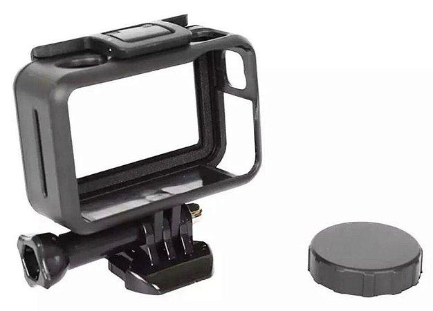 Moldura, Armação ou Frame em ABS com Tampa de Proteção de Lente para Câmeras DJi Osmo Action