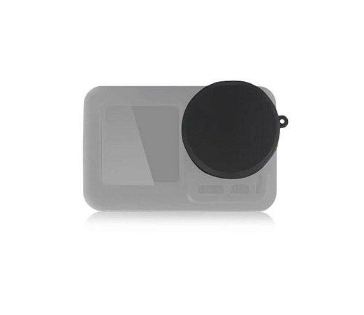 Tampa em silicone para proteção da lente das câmeras DJi Osmo Action.