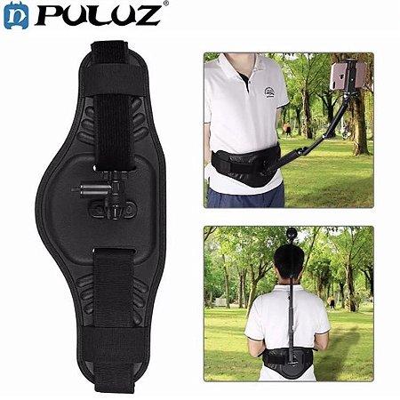 Suporte tipo cinturão para bastões compatíveis com câmeras de ação e celulares