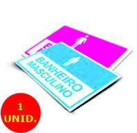 Placa De Sinalização Pvc Pvc 030