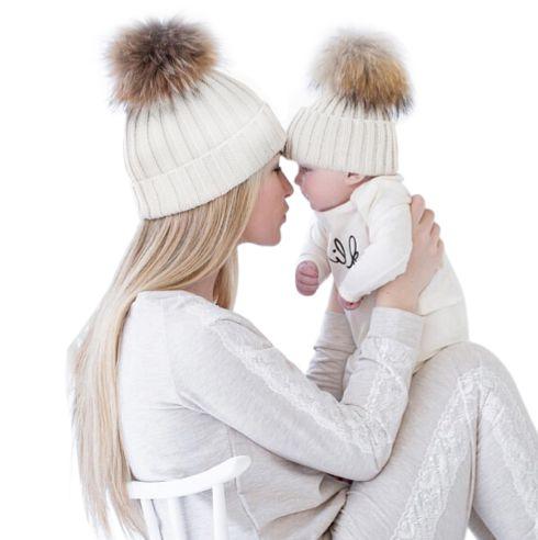 Gorro para mamãe e bebê
