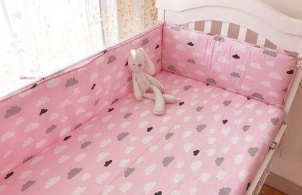 Protetor de berço - Nuvens Pink