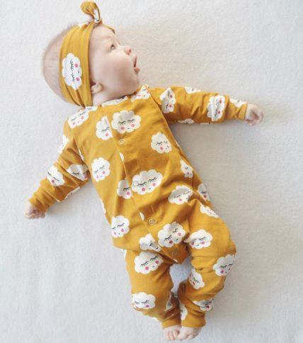 Macacão de bebê Yellow Sky
