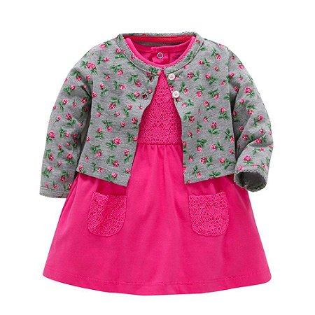 Vestido com Renda pink