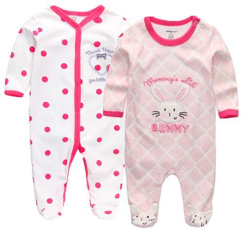 Kit Macacão de bebê - PINK BUNNY - 2 Peças