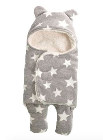 Saco de dormir soft stars cinza