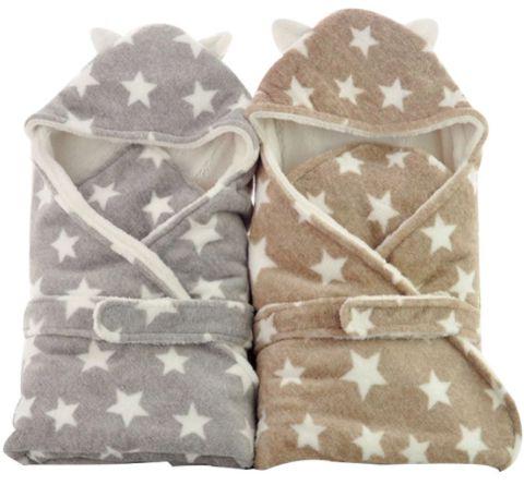 Manta para bebê com capuz soft stars (80x80cm)