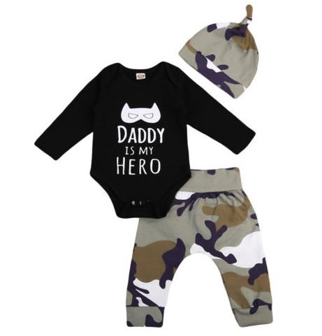 Conjunto de bebê Daddy Hero