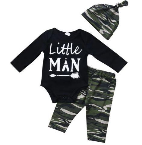 Conjunto de Bebê Army Man