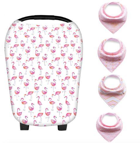Capa 4 EM 1 + bandanas - Flamingos