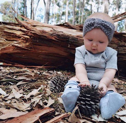 Turbante para bebê - Tricot Vintage