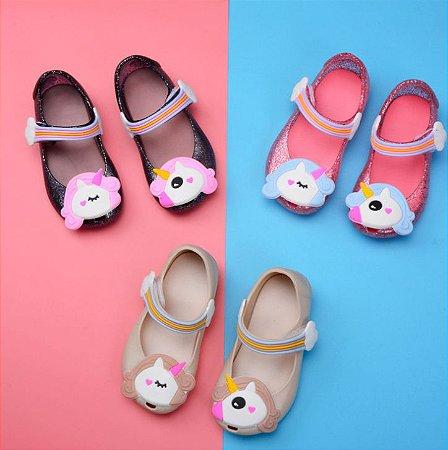 Mini sandália Unicórnio