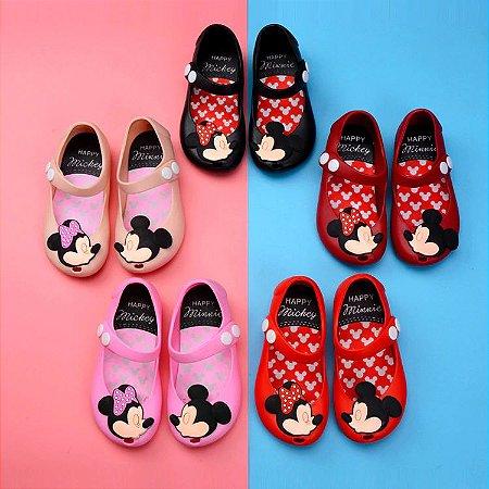 Mini sandália Minnie e Mickey