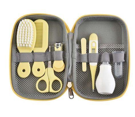 kit de Utensílios para Cuidados com o Bebê - 8 Peças