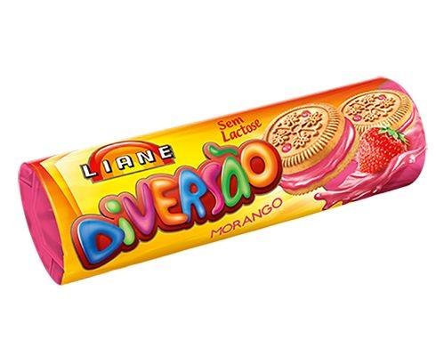 Biscoito Diversão Morango Liane