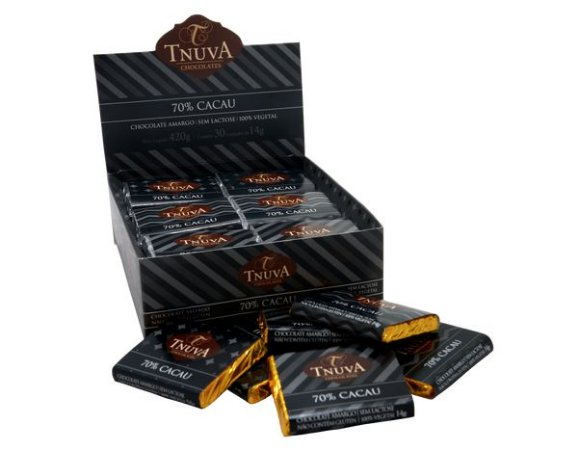 Tabletinho de chocolate 70% Tnuva