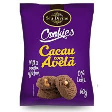 Cookies Cacau e avelã Seu Divino 60g