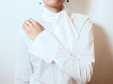 Camisa gola laço