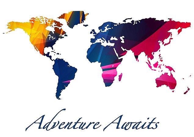 Mapa Adventure Awaits