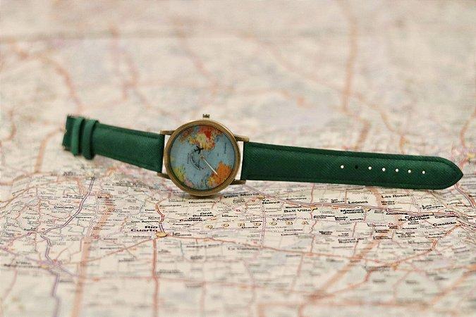 Relógio Mini Mundo Verde