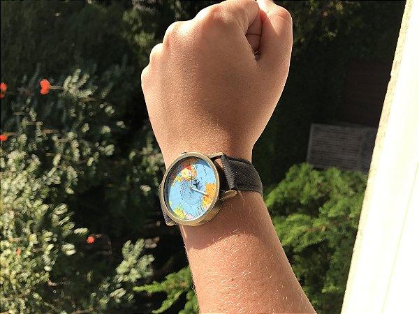 Relógio Mini Mundo Preto