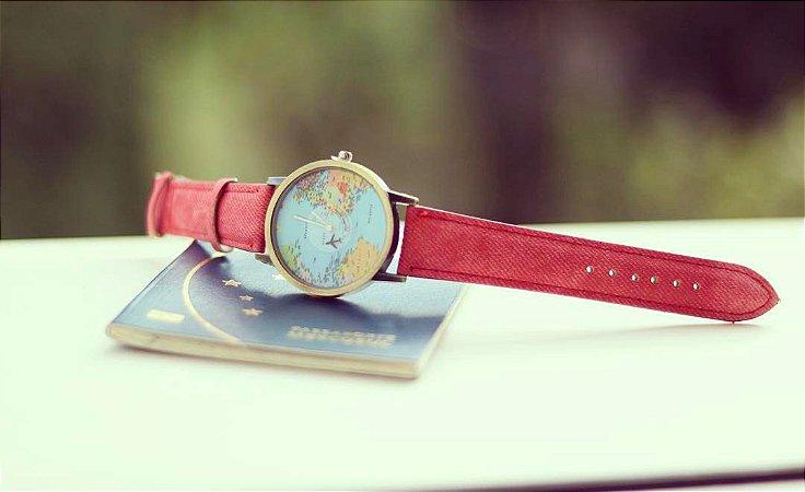 Relógio Mini Mundo Rosa