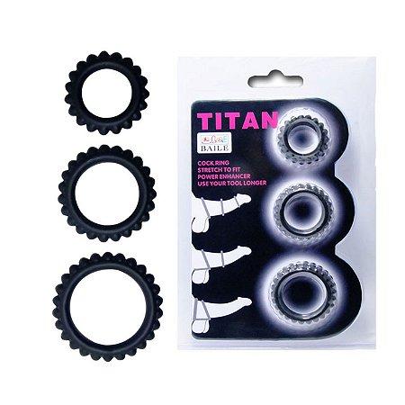 Kit com 3 Anéis Penianos Titan